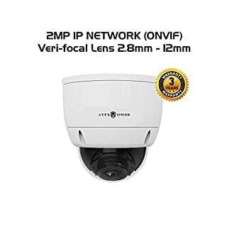 Ares Vision 2MP IP Network Veri-Focal Zoom-able Vandal Proof Dome CCTV Camera w/IR Night Vision