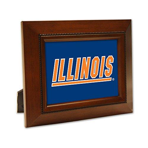 - Woodgrain Frame NCAA Collegiate Team 8 x 10 Musical Table Top Photo Plaque: University of Illinois