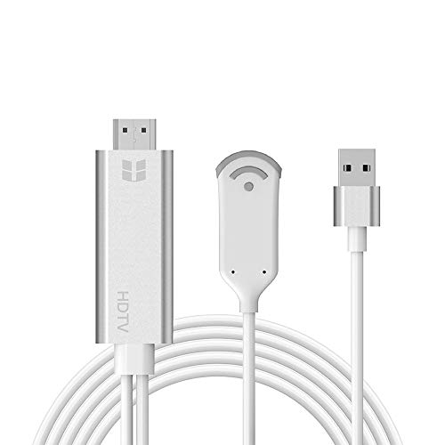 UMei WiFi Wireless Display Cable Adapter HDMI 1080P HDTV Mirroring Screen Compatible with iPhone XS/XS MAX/XR (Required Plugin Not Supported By Your Browser)