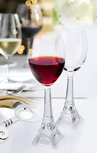 NEW! Vintage Eiffel Tower Flute Wine Glass (set of 2)]()