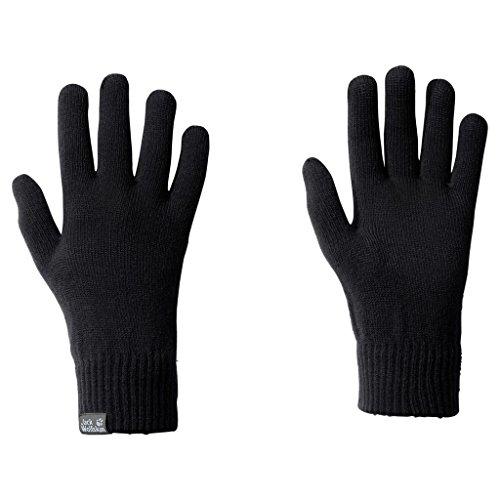 Jack Wolfskin Damen Handschuhe Rib Glove, Black, One size, 1903741-6000