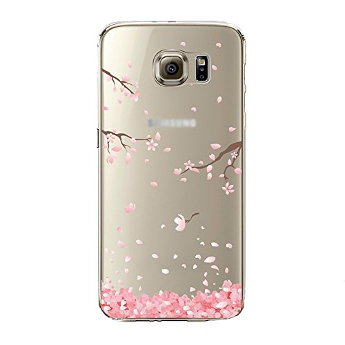Price comparison product image Urberry Galaxy S8 Case, S8 Soft Case, Spring Flower Case Cover for Samsung Galaxy S8 with a Free Screen Protector