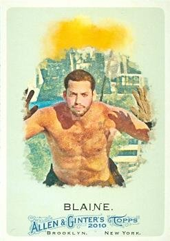 Autograph Warehouse 101495 David Blaine Trading Card Magician 2010 Topps Allen And Ginters Champions No. 272