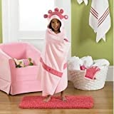 Baby / Child Jumping Beans® Pink Princess Hooded Bath Towel With Embroidered Hood Crown Offer Fun Fashion Infant
