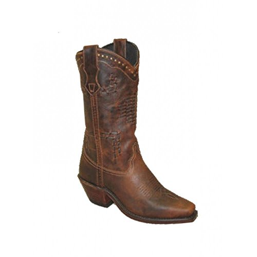 Abilene Women's Sage Hand Laced Cowgirl Boots Brown