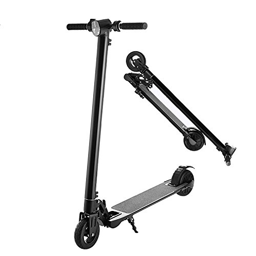 Garain Folding Compact Electric Scooter High Speed Adult Teens 2-Wheel Electric Kick Scooter (Black)