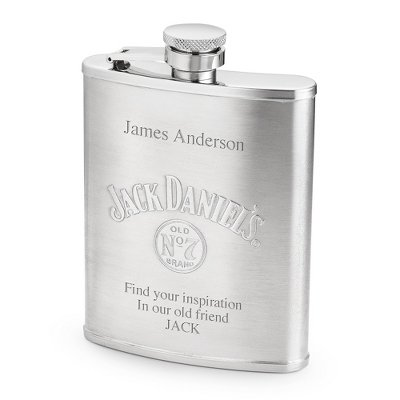 Personalized Jack Daniel's 6-OZ. Flask with Engraving Included