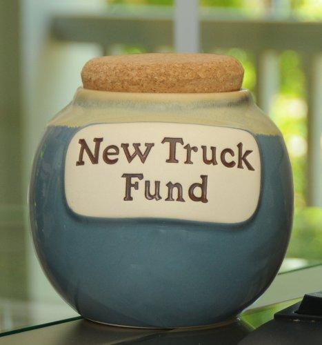 Tumbleweed Pottery Word Jar (Money Jar Banks (New Truck)