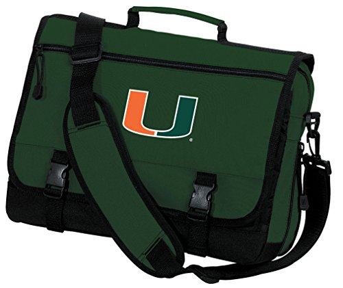Broad Bay OFFICIAL University of Miami Laptop Bag Miami Canes Messenger Bag by Broad Bay