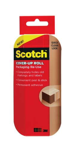 Scotch , Packaging Re-Use Cover-Up Roll, 6-Inches x 15 Feet, (RU-CUR15)