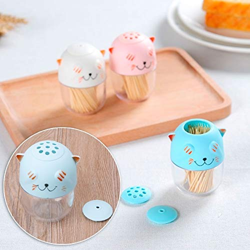 Spice & Pepper Shakers - Est Cartoon Cat Toothpick Holder Spice Can Seasoning Box Food Fruit Pick Ganizer - Jar Condiment & Toothpick Holder Miniature K Toy Spice Cat Bento Pepper Spice Hold