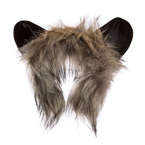 Wildlife Tree Plush Aye-Aye Lemur Ears Headband Accessory for Lemur Costume, Cosplay, Pretend Animal Play or Safari Party Costumes]()