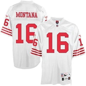 a9e67a940 Amazon.com   Reebok NFL Equipment San Francisco 49ers  16 Joe Montana White  Tackle Twill Throwback Football Jersey   Sports Fan Jerseys   Sports    Outdoors
