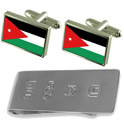 Jordan Flag Cufflinks & James Bond Money Clip by Select Gifts