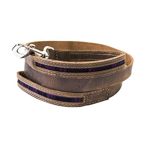 Rustic Mayan Dog Leash (6 feet) Handmade by Hide  Drink :: Tropical Purple