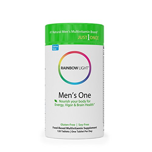 Rainbow Light - Men's One Food-Based Multivitamin - Supports Nutrition, Immunity, Energy, Stress Management, Heart, Prostate, Muscle, and Sexual Health in Men - 120 Tablets