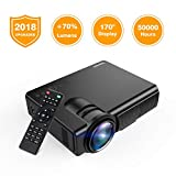 : Projector, TENKER Q5 LED Mini Movie Projector Support 1080P HDMI USB TF VGA AV, Multimedia Home Theater LCD Video Projector, Black