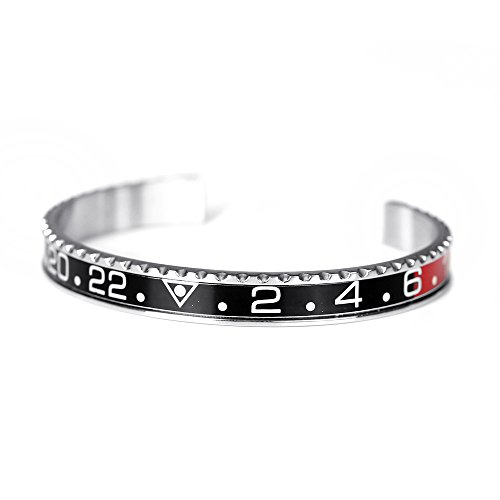 BeiChong Speedometer Stainless Steel Watch Style Bracelet Jewelry (red&Black) from BeiChong