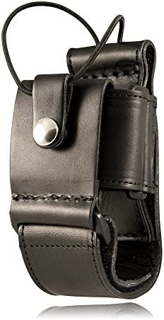 Boston Leather 5610-5 Black Ballistic Nylon Nickel Snap Adjustable Radio Holder