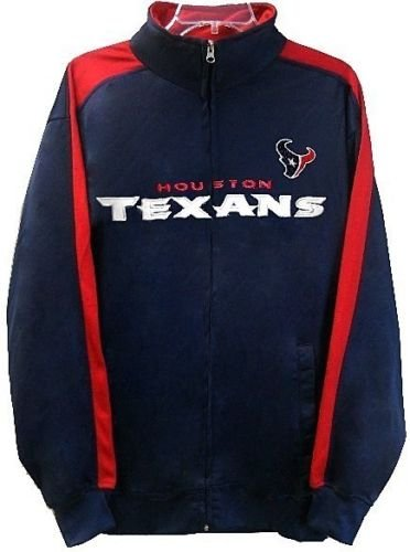 Houston Texans NFL End Zone Full Zip Mens Track Jacket Big & Tall Sizes (MT)