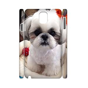 3D Samsung Galaxy Note 3 Case Adorable and Cute Little Shih Tzu Puppy,cute Dog, [White]