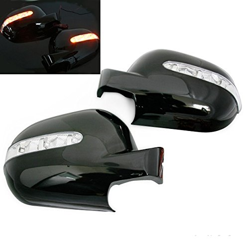 ES W163 M-CLASS ML320 ML55 AMG Black Side Mirror Cover w/LED Blinker ()