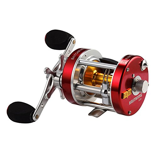 KastKing Rover Round Baitcasting Reel - No.1 Highest Rated Conventional Reel - Reinforced Metal Body & Supreme Star Drag - 2016 Newly Released Rover RXA Conventional Saltwater Reel(40Right Handed)