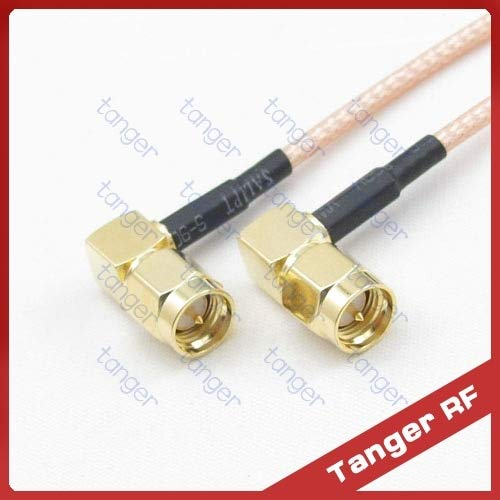 Gimax 10pcs 6inch RG316 cable SMA male to male plug 90 degree double right angle connector RF RG316 Coax Pigtail 6
