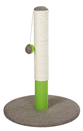 Kerbl 81530 Kratzsäule Opal Basic, grün/grau, 37 x 37 x 50 cm