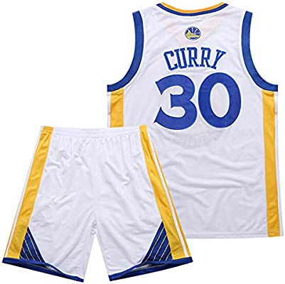 BUY-TO Warriors 30 Curry Jersey Pantalones Cortos de la NBA Traje de Uniforme de Baloncesto,White,M: Amazon.es: Deportes y aire libre