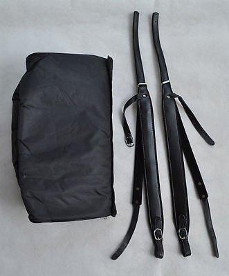 Vera pelle fisarmonica cinghie e Gig bag custodia per 120Bass LXERSY