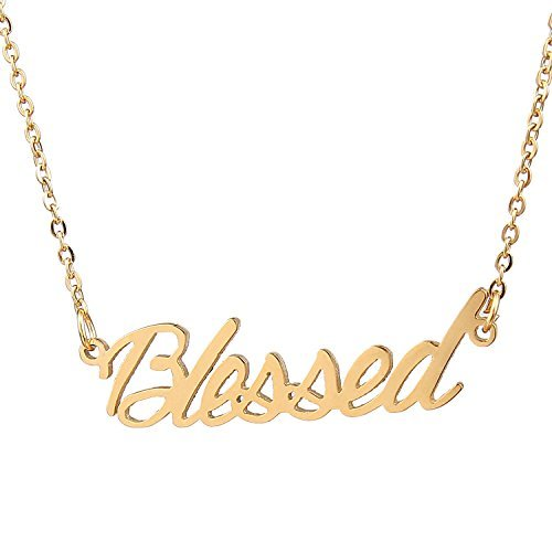 Aolo Blessed Personalized Name Necklace 14k Gold Plating Stainless Steel Gift