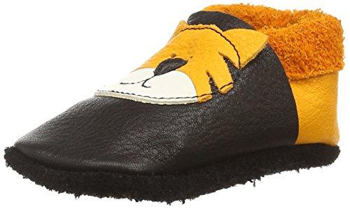Pololo Tiger Tom - Zapatilla de estar por casa Unisex Niños Negro (nero mango 930)
