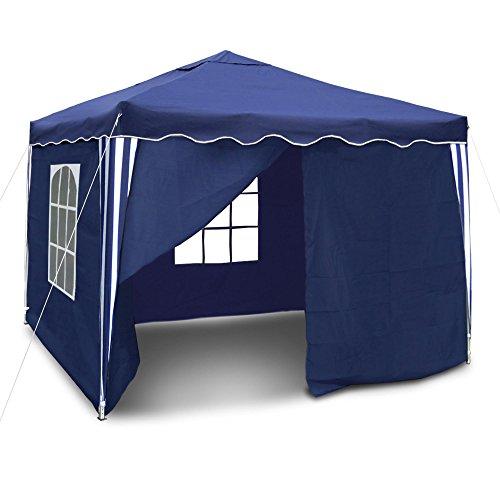 JOM 127116 Gartenpavillon Falt-Pavillon, 3 x 3 m, blau