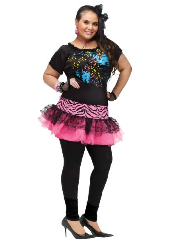 Women's Plus Size Halloween Costume Ideas (80's Pop Party Plus Size Costume)