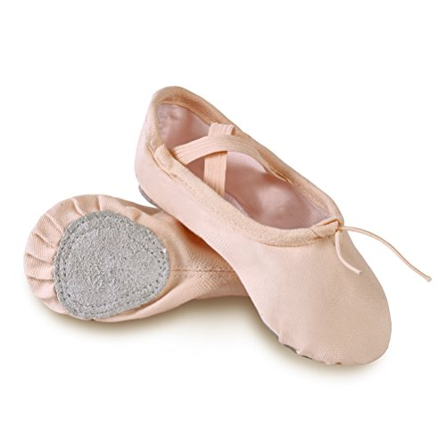 Shoes sole Dance Flats Ballet Canvas Size 9 Women's Gymnastics Generic US 5 Yoga Classic split Slippers Pink nqHXP8RU