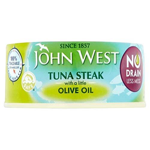 (John West No Drain Tuna Steaks Olive Oil 110g)