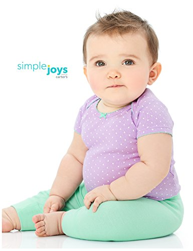 Simple Joys by Carter's Baby Girls 4-Pack Pant, Pink/Grey, 0-3 Months by Simple Joys by Carter's (Image #3)
