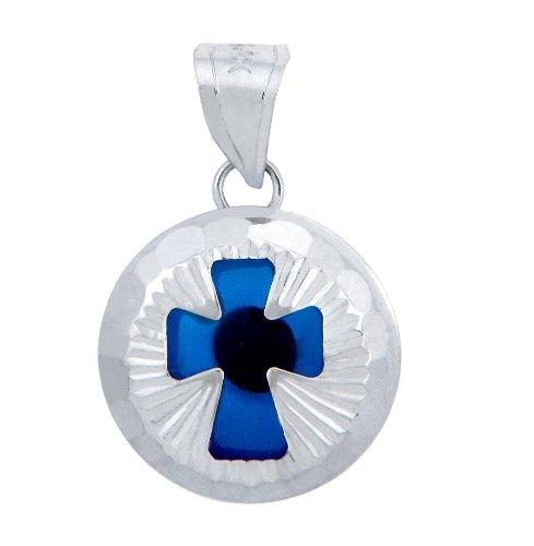 Petits Merveilles D'amour - Evil Eye Croix en or 14 ct 585/1000 Blanc