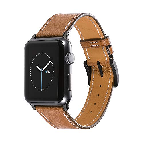 CHIMAERA Compatible Replacement for 38mm 40mm 42mm 44mm Apple Watch Band Leather Strap Series 4/3/2/1 Sports Edition
