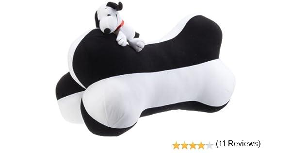 color blanco y negro OTOTOP 92006 Coj/ín con forma de hueso y dise/ño de Snoopy