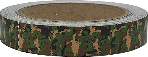 Green Camouflage Tape for Scrapbooking Crafts Holiday Wrapping Tape 3/4 Inch 25 Yard Length