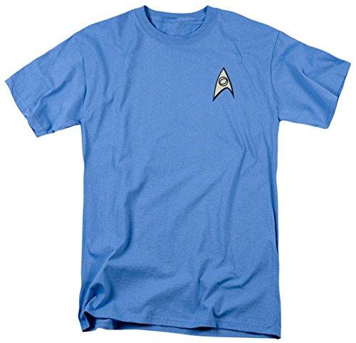 (Star Trek - Science Uniform T-Shirt Size XXXL)