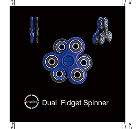 Amazon two spinners connected dual stackable fidget spinner amazon two spinners connected dual stackable fidget spinner set blueblack by envolve the only stack and spin fidget spinner long spins 3 4 solutioingenieria Gallery