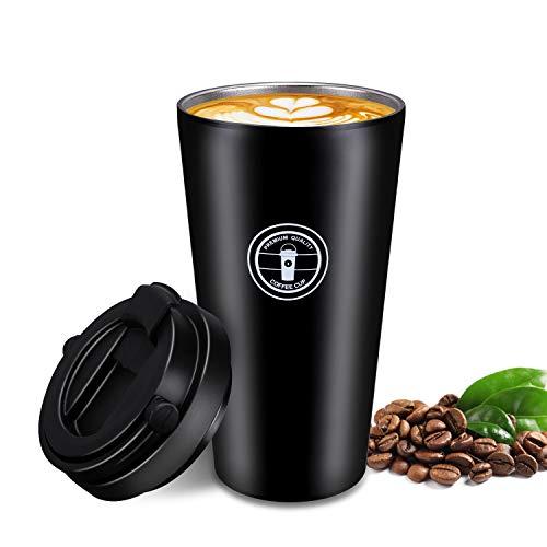 Gifort Tazas de cafe de Acero Inoxidable Termo de Cafe Matraz de Acero Inoxidable Aislado Diseno a Prueba de Fugas para Bebidas Frias y Calientes Bebidas