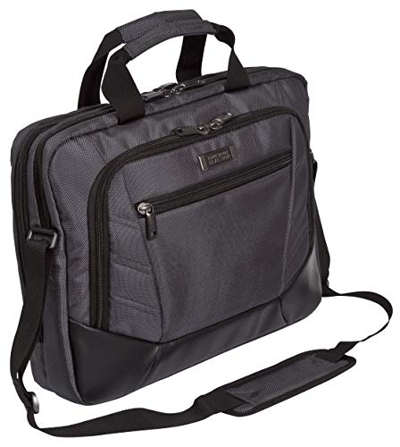 Kenneth Cole Reaction Top Zip 15.6 Laptop Case Briefcase, Charcoal Computer
