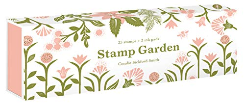 Stamp Garden: (25 stamps, 2 ink colors, assorted plant and flower parts, perfect for scrapbooking, printmaking, diy crafts, and journals) - $24.95
