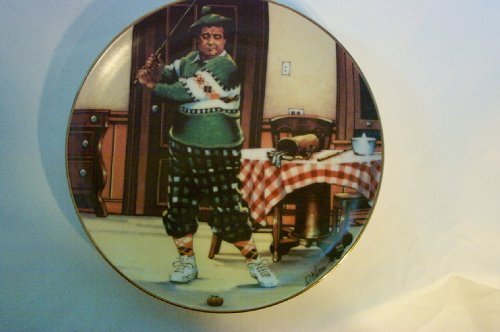 The Honeymooners Plate - 1987 The Golfer by Hamilton