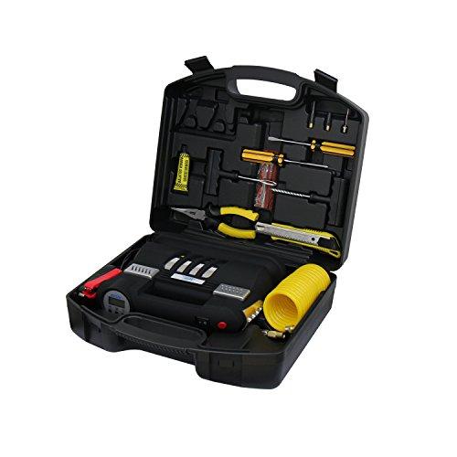 Caesar Safe BSD-6130B1 Portable Air Compressor Kit With Digital Display & Light For Cars Trucks Tires, , Black