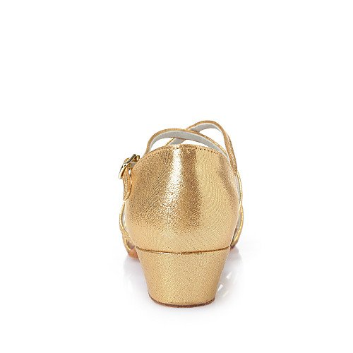 L33 L45 Dance Q T Heels Kids' Chunky Shoes L32 T Leatherette Pink L36 Heel Pink Hqv7xn4qw